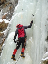 Heiko am steilsten von uns gekletterten Wasserfall