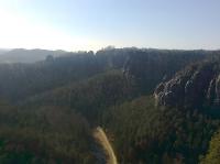 Blick von der Lok zur Bastei