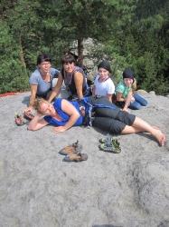 unsere Klettermaedchen
