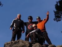die ehemalige Mittwochsgruppe auf dem Gipfel