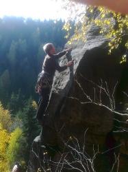 Thomas klettert die Reibung an der Elisabethspitze